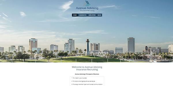 image of avenueadvising.com homepage