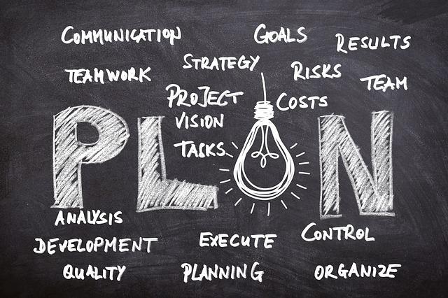 Project management chalk image