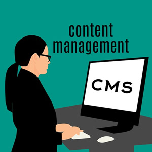 Content Management - CMS graphic