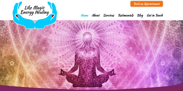 Likemagicenergyhealing.com homepage screenshot