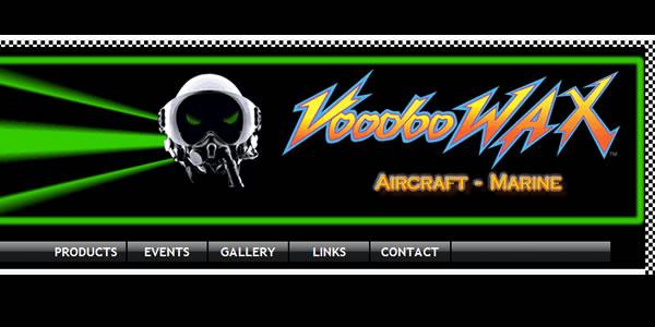 voodoowax.com website homepage screenshot