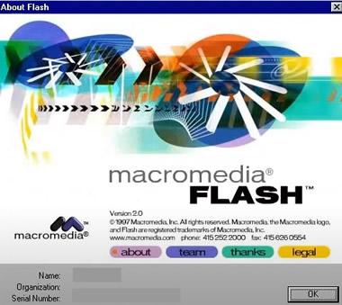 Macromedia now Adobe Flash